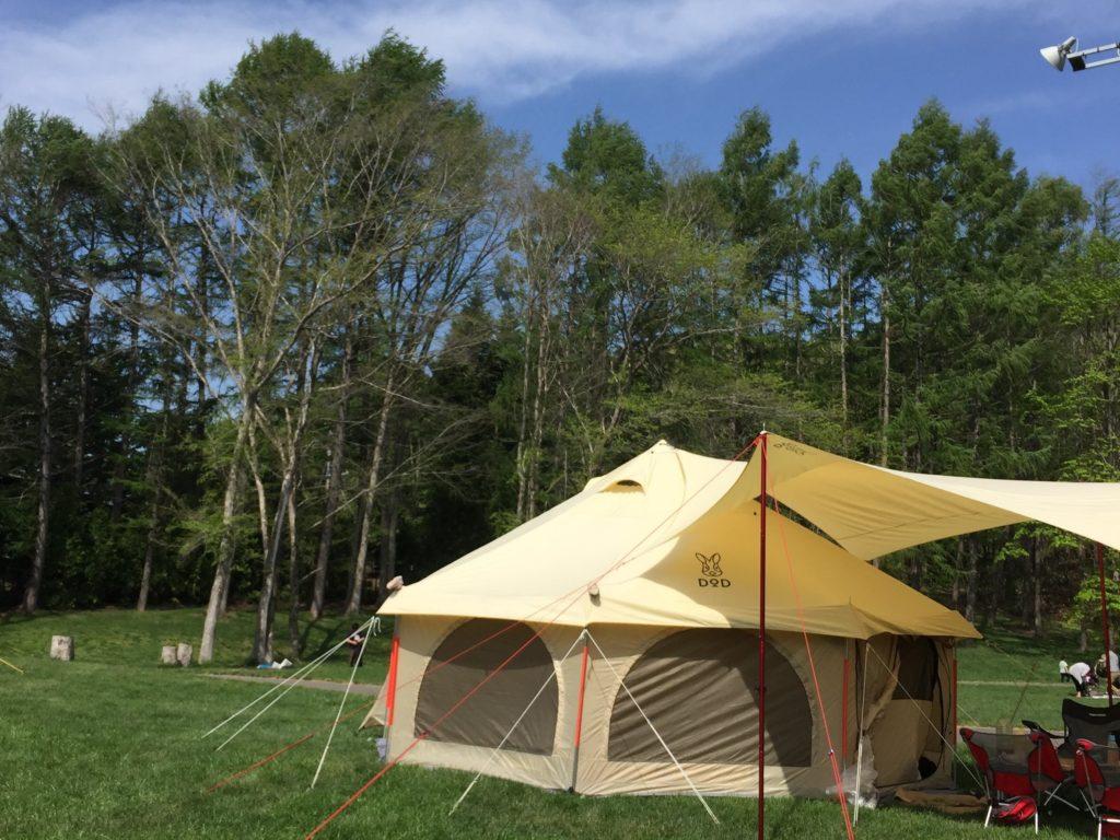 テント 2 タケノコ